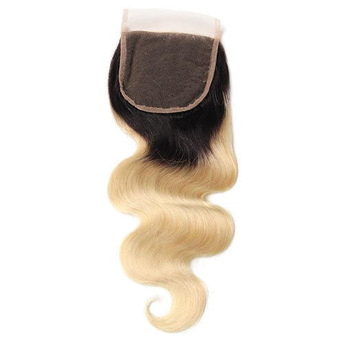 1B/Blonde 613 Body Wave Closure