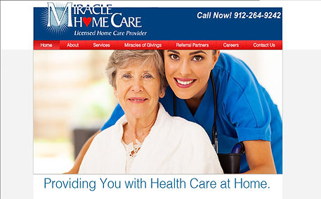 Miracle Home Care created by iZiggy Promotions