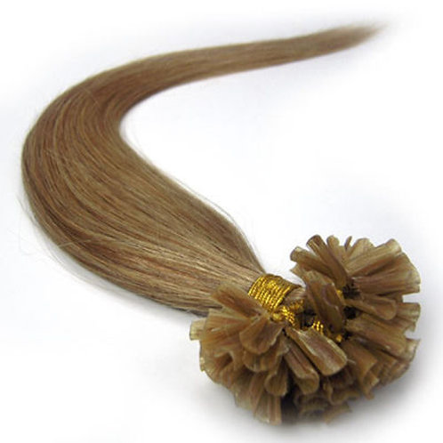 Dark Honey Blonde U-Tip Human Hair Extensions