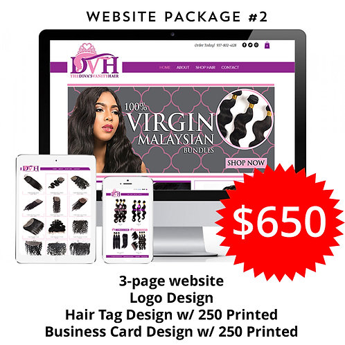 Hair Branding Website Package #2: The Business by iZiggy Promotions