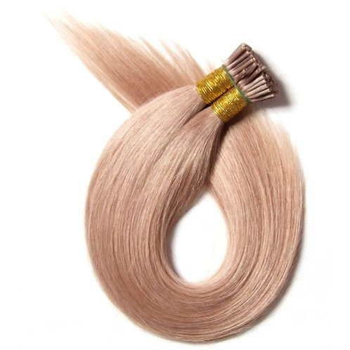 Blonde I-Tip Human Hair Extensions