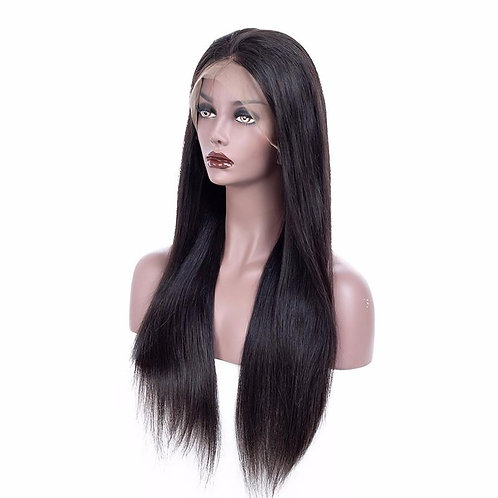 Lace Frontal Wig 150% Density Straight Natural Black Hair