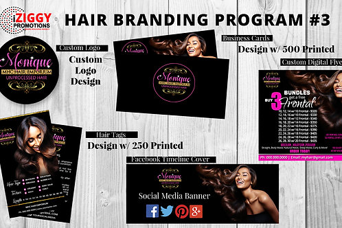 Custom Logo, Business Card Design,Hair Tag Design, Custom Digital Flyer by iZiggy Promotions