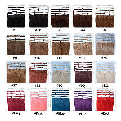 Virgin Hair Tape-In Extensions (20 pieces)
