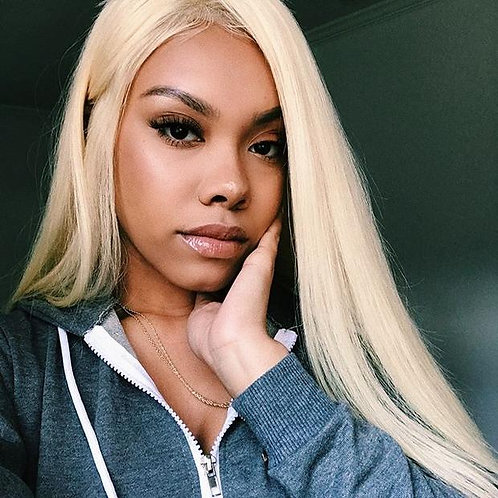 Blonde 613 Silky Straight Frontal