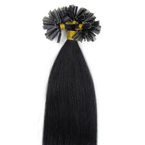 Jet Black U-Tip Human Hair Extensions