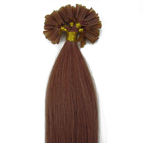 Auburn U-Tip Human Hair Extensions