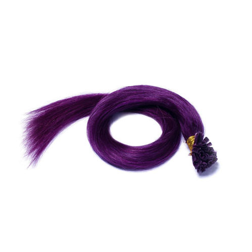 Purple U-Tip Human Hair Extensions