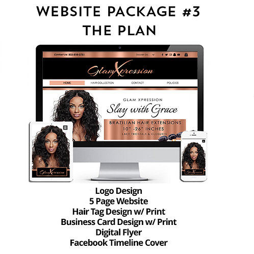 Hair Branding Website Package #3: The Plan