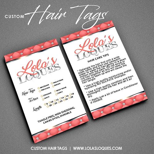 Custom Hair Tag Design