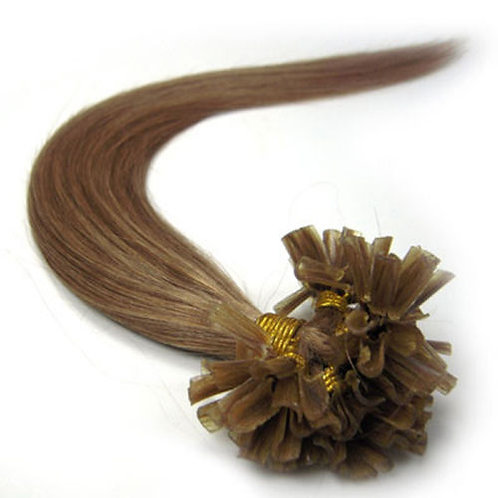 Light Brown U-Tip Human Hair Extensions