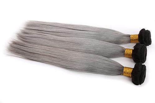 1B/Grey Ombre Straight Virgin Hair