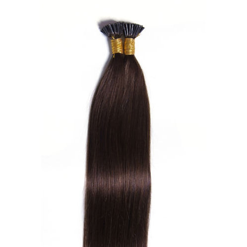 Dark Brown I-Tip Human Hair Extensions