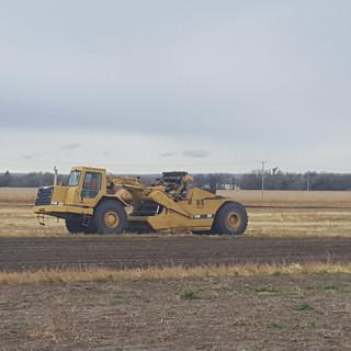Dirt work preparing Ground