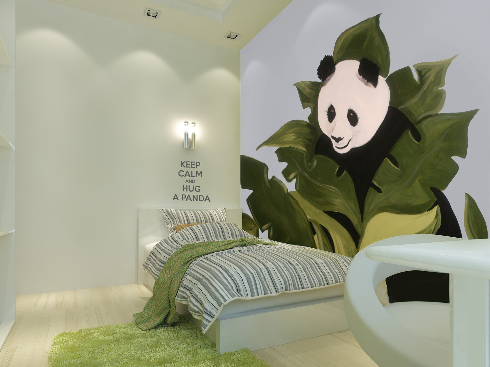 Childrens mural painter in toronto i up the wall i muralist i kids panda mural amipublicfo Image collections