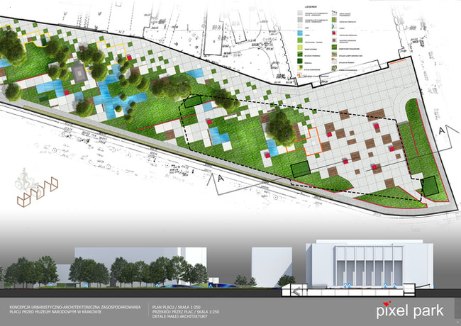 Konkurs na opracowanie koncepcji urbanistyczno-architektonicznej placu przed Muzeum Narodowym w Krakowie