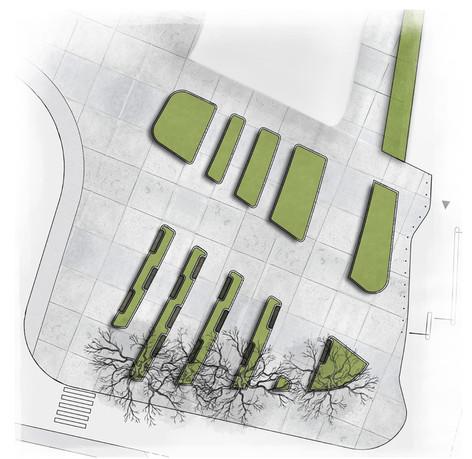 Projekt zieleni przy Centrum Kongresowym w Krakowie