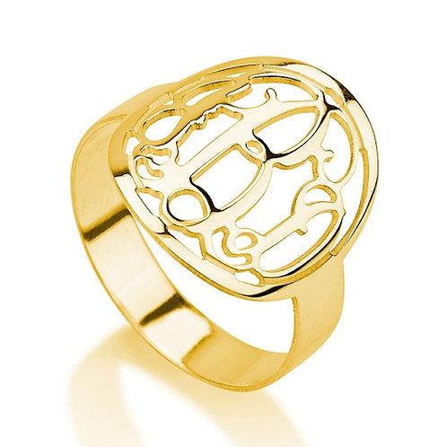 Frame monogram ring