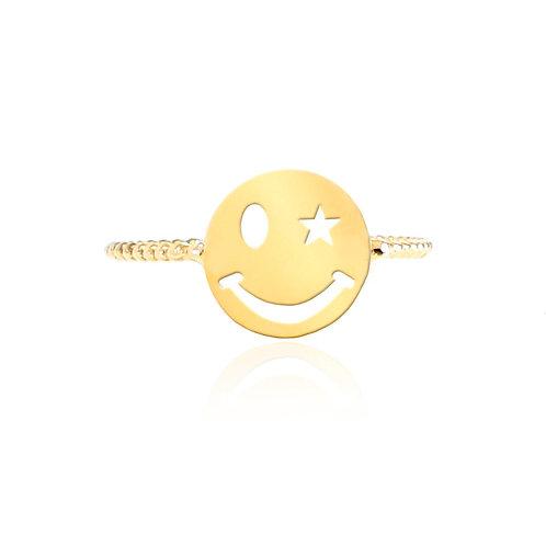 Smiley Miley 14K Gold Ring