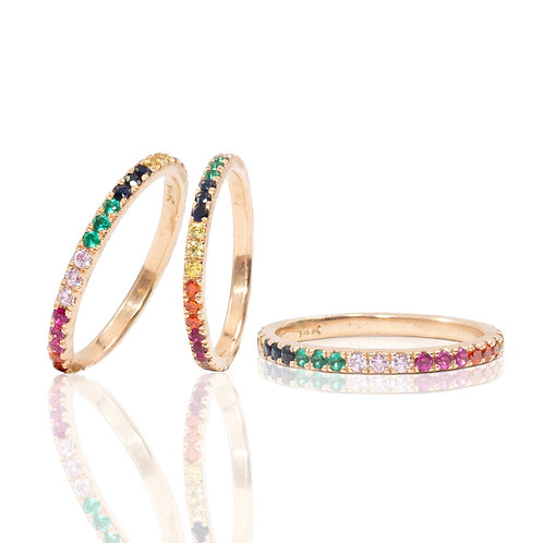Rainbow Gold 14K Ring