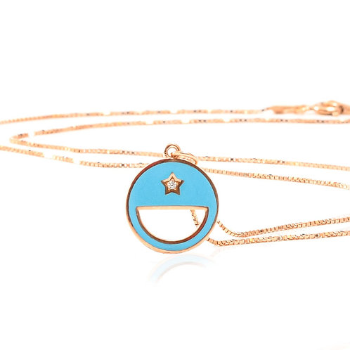 Nilli Moon Turquoise Necklace