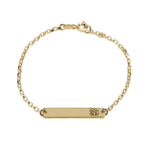 Tag bar bracelet initials
