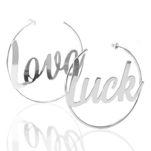 Typographic Hoop Earrings