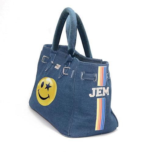 Smiley Miley Denim Bag