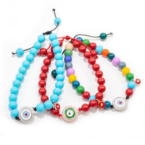 Mykonos Eye Beads Bracelet.