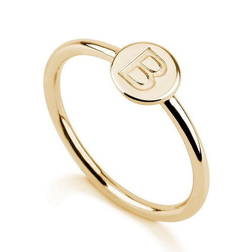 Mini Coin Letter Ring