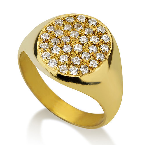 Little finger pinky pave ring