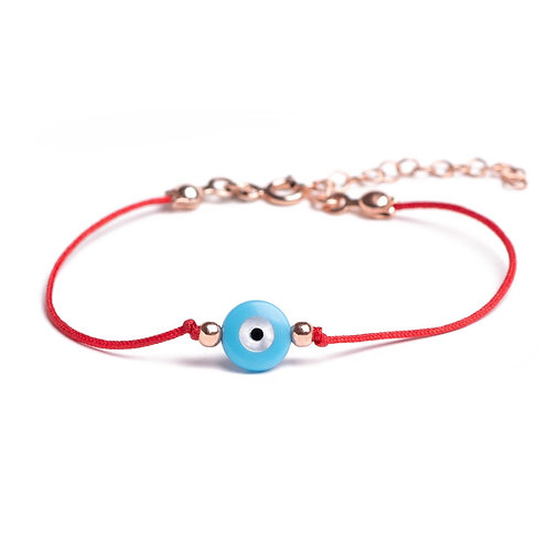 Blue Eye With Red Wire
