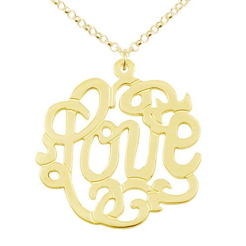 Love monogram necklace