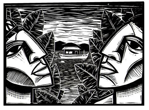 Nativos Observando o rio.