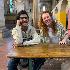 Haris Ahmed Poet | With Kirsty Taylor at Leeds Poetry Festival Left Bank Leeds.