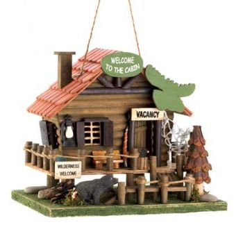 Welcome Cabin Birdhouse