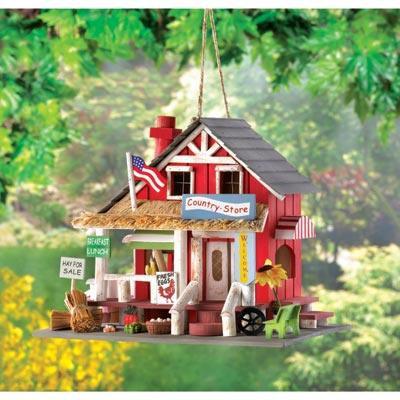 Quaint Country Store Birdhouse