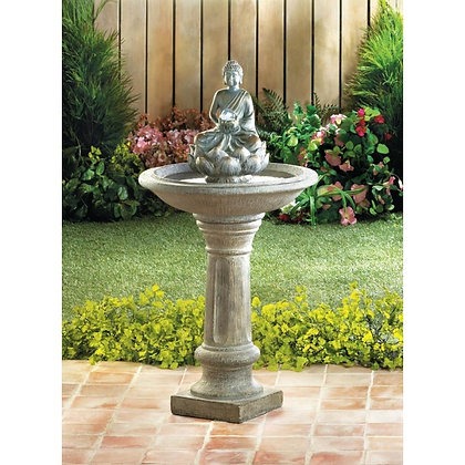 Buddha Water Fountain on Pedestal