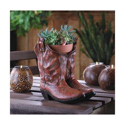Old West Cowboy Boots Garden Planter