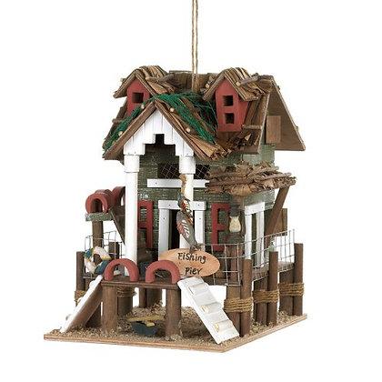 Charming Fishing Pier Birdhouse