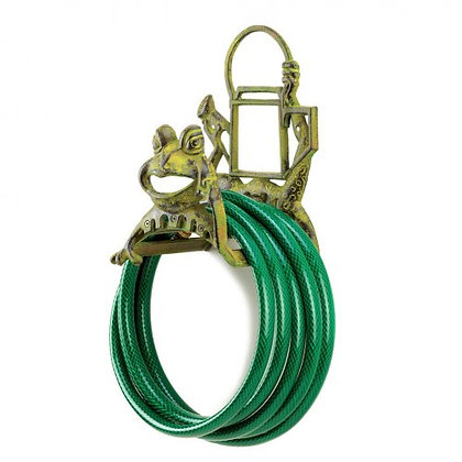 Cast Iron Frog Garden Hose Holder