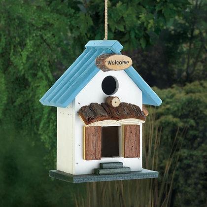Blue Roof Birdhouse