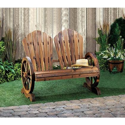 Wagon Wheel Couple's Chair