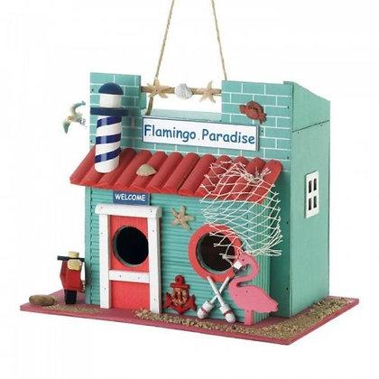 Flamingo Birdhouse