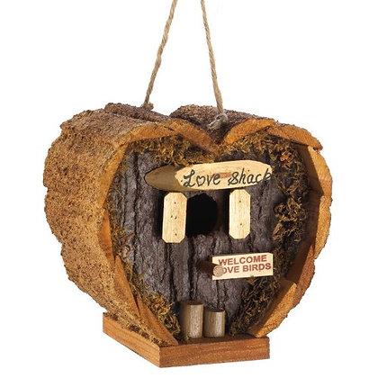 Love Shack Bark Birdhouse