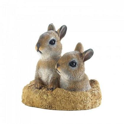 Peek A Boo Garden Bunnies Decor