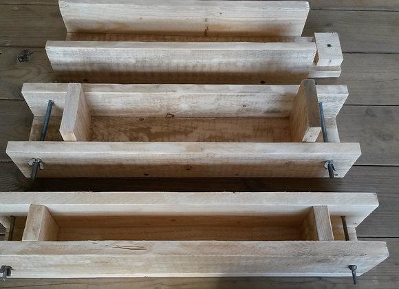 תבניות יציקה לסבון מעץ מלא