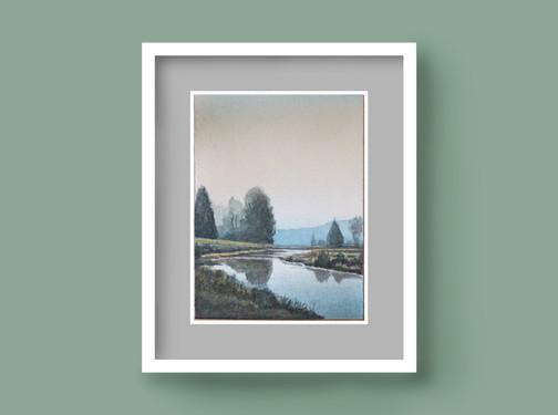 Paesaggio con canale
