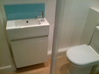 Plumbing for finished shower room in Cricklewood, NW2