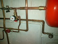 Pipe work on converted heating system in Kilburn, NW6. Heating system converted to sealed system